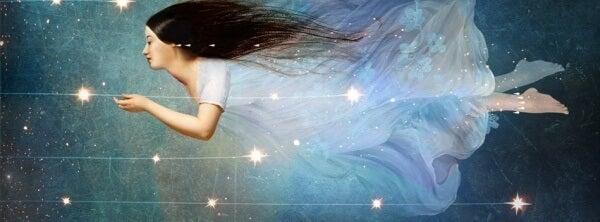 Nainen tavoittaa tähdet
