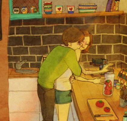 Halaus keittiössä