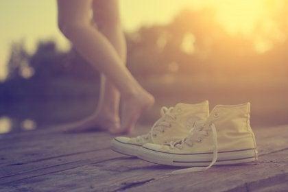 Kengät laiturilla