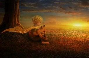 Pikku Prinssi ketun kanssa