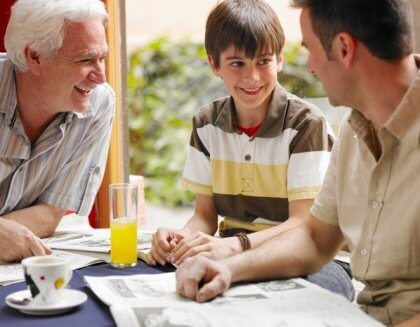 Poika, isä ja isoisä