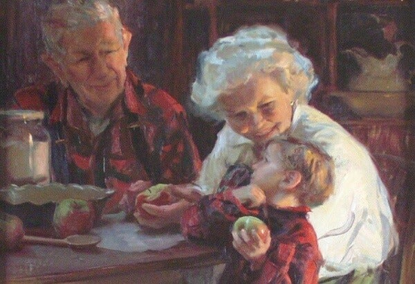 Poika ja isovanhemmat