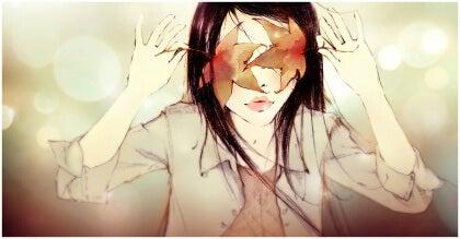 Tyttö peittää silmät ja on ajattelematta mitään