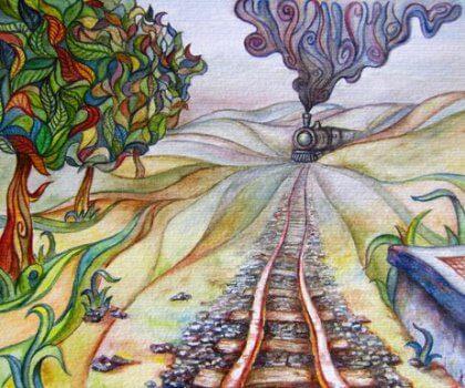 Elämän junamatka on värikäs