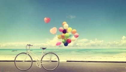Pyörä rannalla