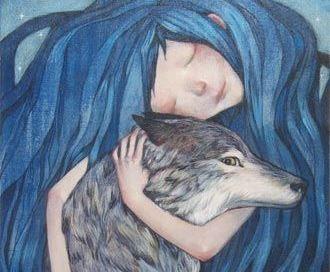 Tytön ja suden halaus