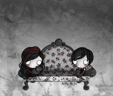 Lapset sohvalla