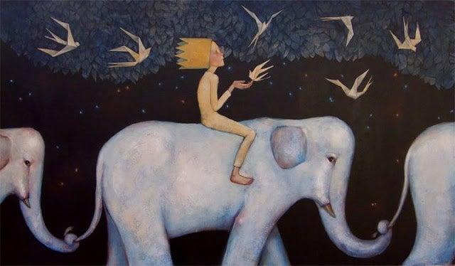 Sisäinen lapseni ratsastaa norsulla