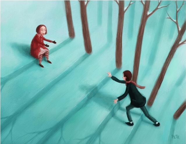 Portaikko metsässä