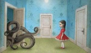Myrkyllinen kasvatus lonkerot ja tyttö