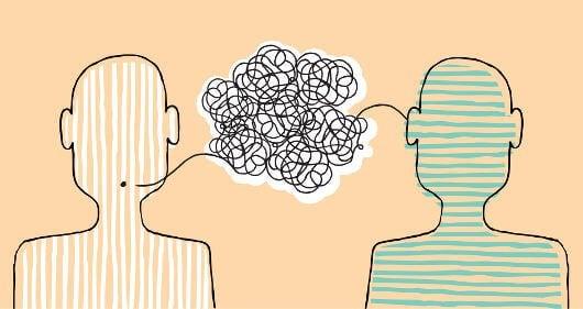 Kommunikointi kahden ihmisen välillä