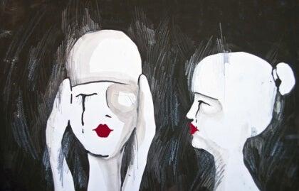 Nainen muistaa negatiiviset muistot