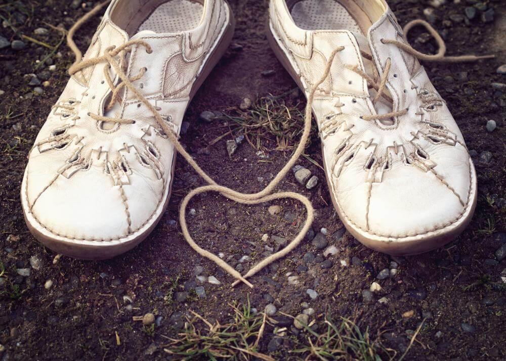Kengännauhat sydän