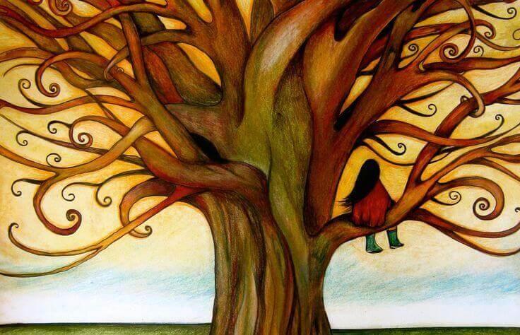 Lasten ahdistuneisuus puu