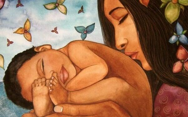 Äitiys on sydämen pois antamista