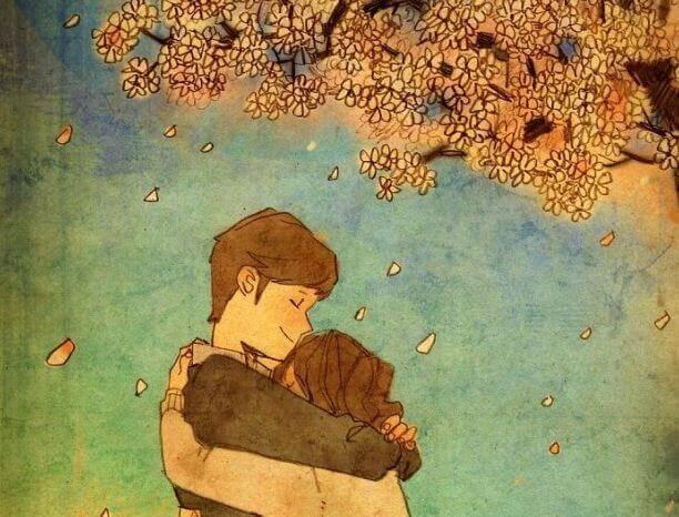 Naisen ja miehen halaukset