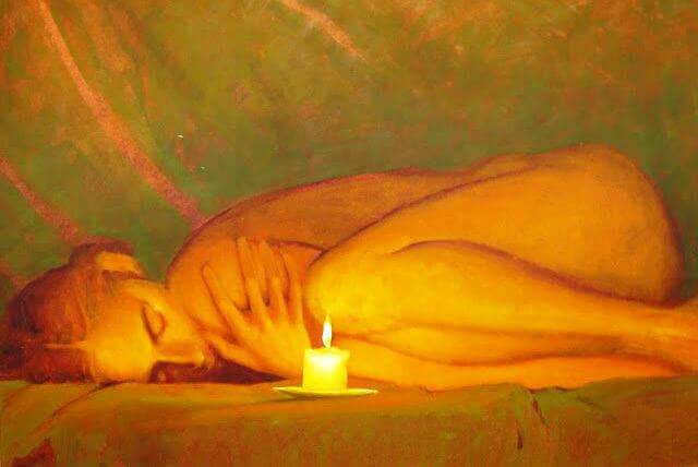 Yksin kynttilänvalossa