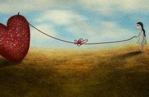 Tytön ja sydämen etäisyys