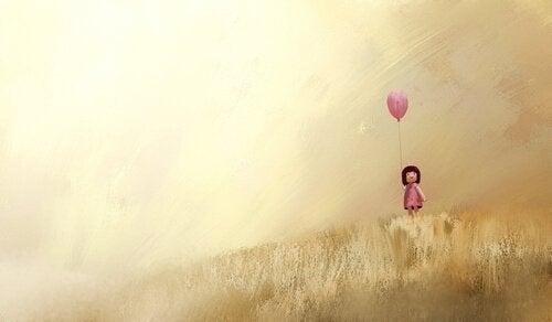 Tyttö ja ilmapallo