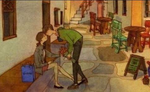 Kukkia ja suudelma