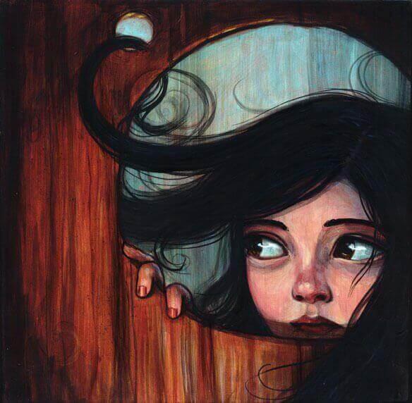 tummatukkainen tyttö