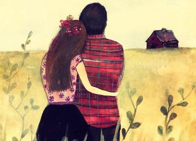 Nainen ja mies yhdessä