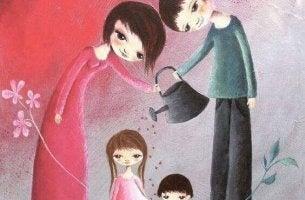 Lasten koulutus perheessä