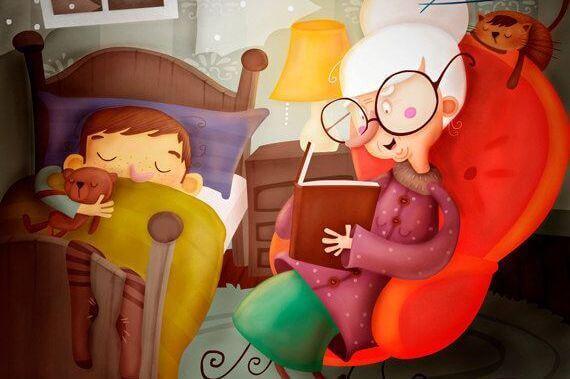 isoaiti lukee kirjaa