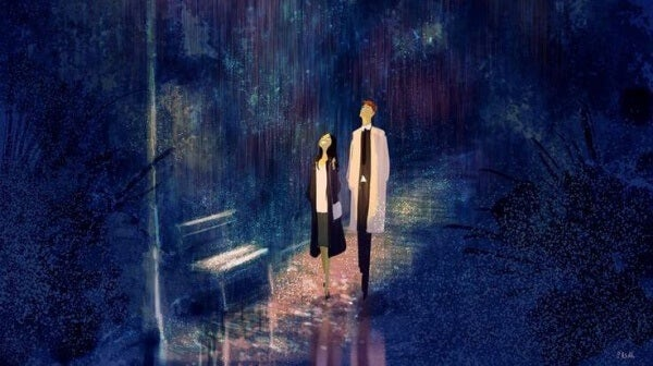 katsovat ylos sateessa