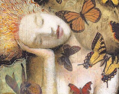 Nainen ja perhoset