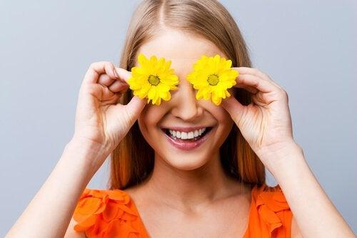 Huumori kukat silmillä