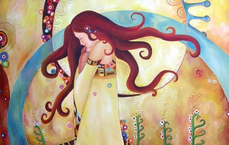 nainen suljetut silmät