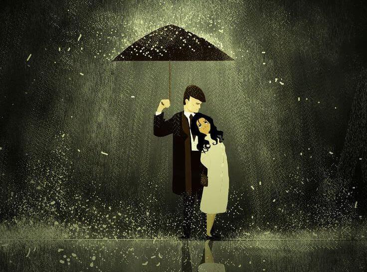 Pari sateenvarjon alla