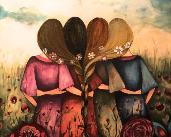 Neljä tyttöä ja letit