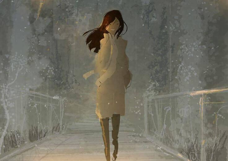 Nainen ja kävely