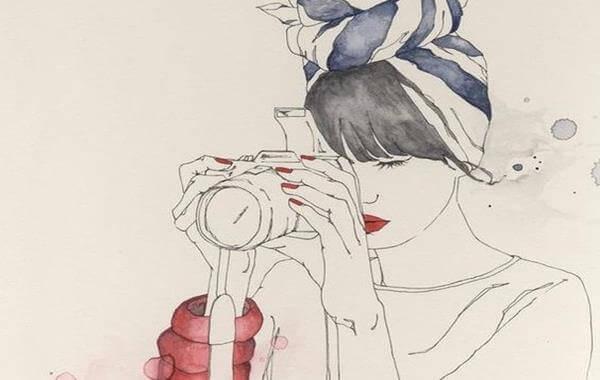 Nainen valokuvaaja