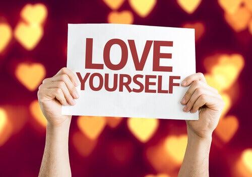 rakasta itseasi kyltti