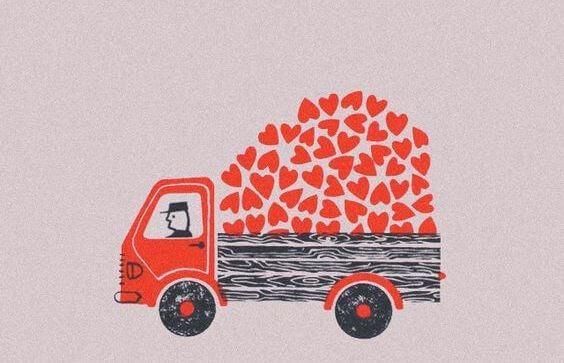 kuorma-auto taynna sydamia