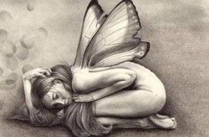 Perhostyttö antaa periksi