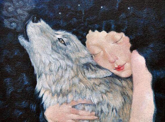 Nainen ja susi