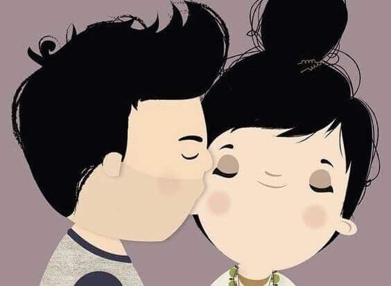 suudelma poskelle