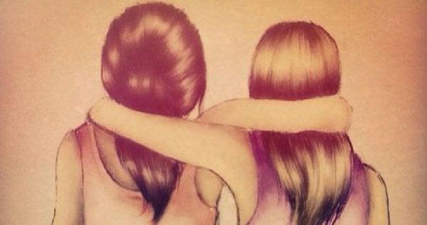 Ystävät halaavat