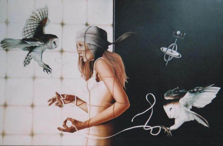 Nainen ja pöllöt