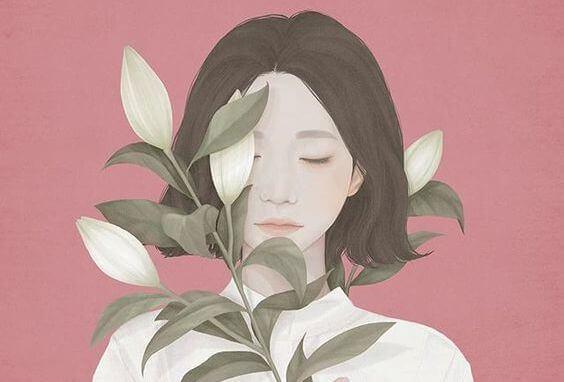 Nainen ja kasvi