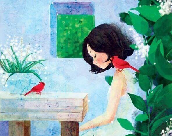 Tyttö ja lintu