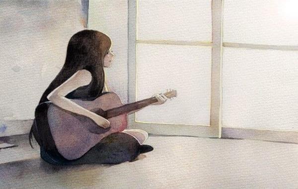 Soittaa kitaraa