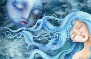 Nainen ja kuu tuntevat syyllisyyttä