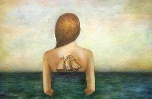 Nainen vedessä