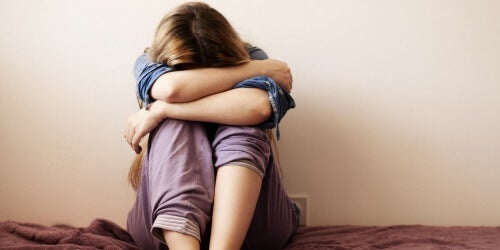 naisen masennuksen malli
