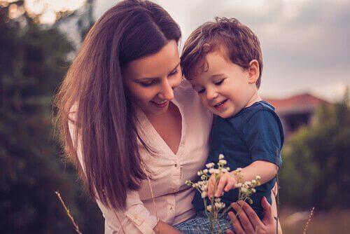 äiti ja poika
